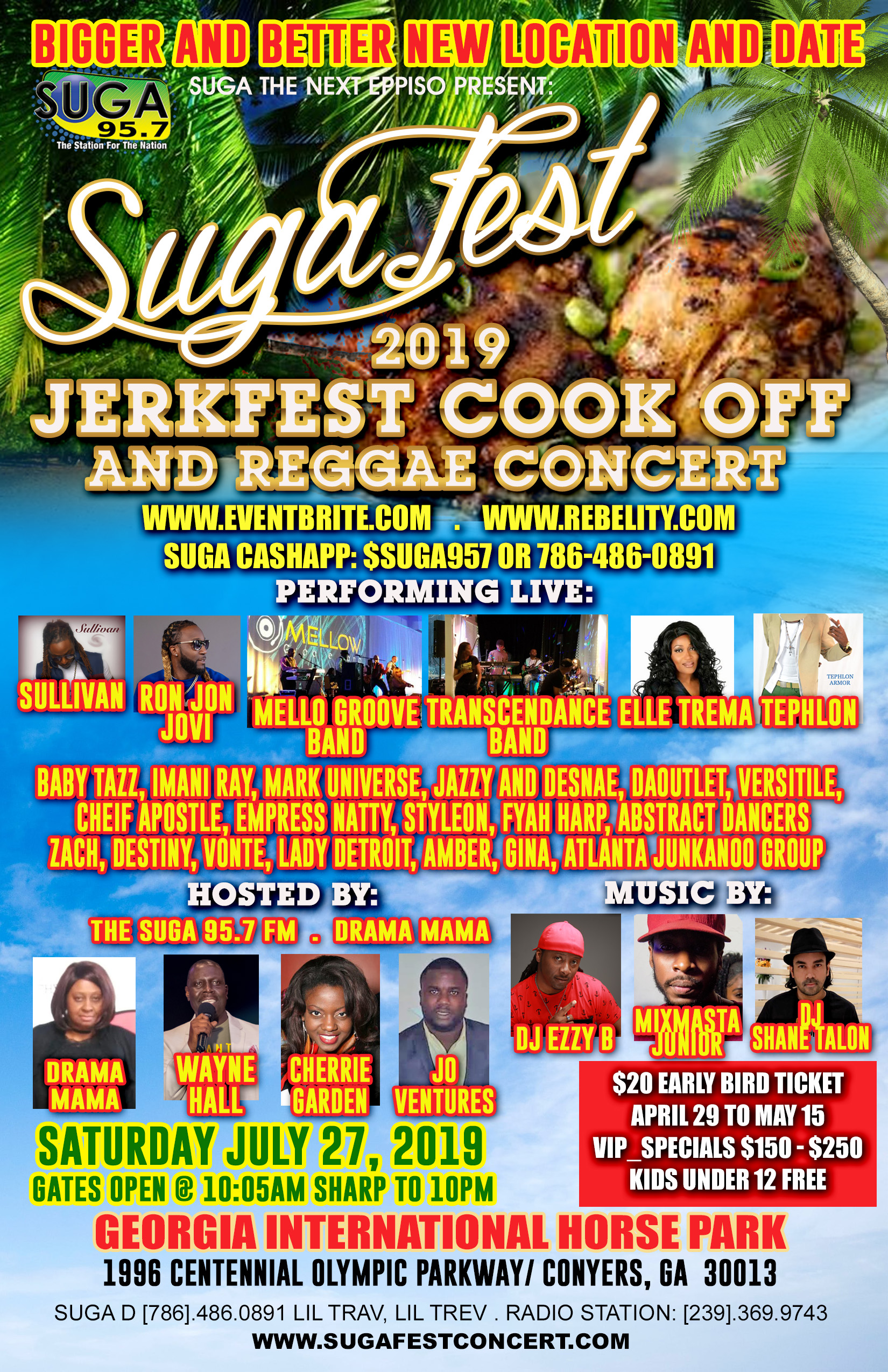 Vendor Application for Sugafest JerkFest